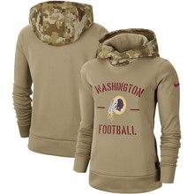 Женская Молодежная Американская Футбольная Толстовка Redskins Салют для обслуживания Sideline Therma пуловер с капюшоном