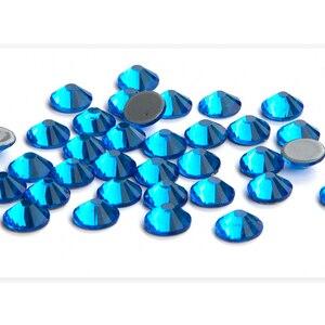 Image 2 - 1440Pcs Hotfix Glass Strass Crystal Iron On Fabric Hot Fix Rhinestones Flat Crystal AB Glitter Clothes Bag Shoes