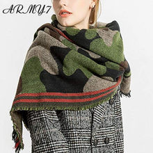 Luxury Brand Women's Cotton Scarf Poncho Cape Femme Wrap Blanket Autumn Winter Green Cashmere Scarf Ladies Cover Necklace Shawl(China)