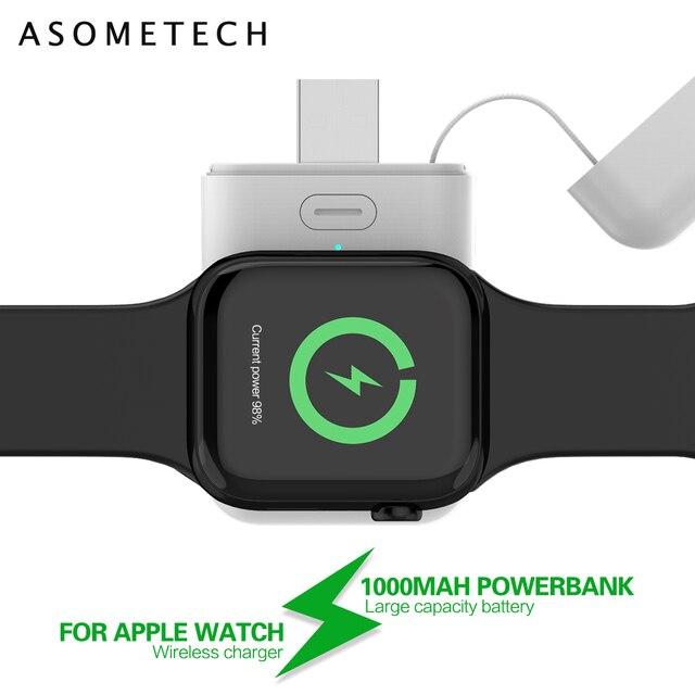 1000mAh Charger Powerbank สำหรับ Apple Watch 1 2 3 4 MINI Power Bank สำหรับ iWatch 1 2 3 4 ภายนอกแบตเตอรี่ชาร์จ USB