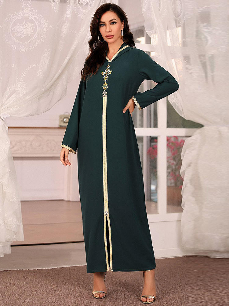 Hijab Dress Abaya Turkey Islam-Clothing Musulman Djellaba Dubai Robe-De-Moda Muslim Fashion