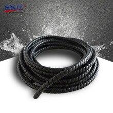 8-28 мм модель спираль Защитная крышка 2 м Мотоциклетный кабель Защита проводов отделка масло и прочный кабель рукав