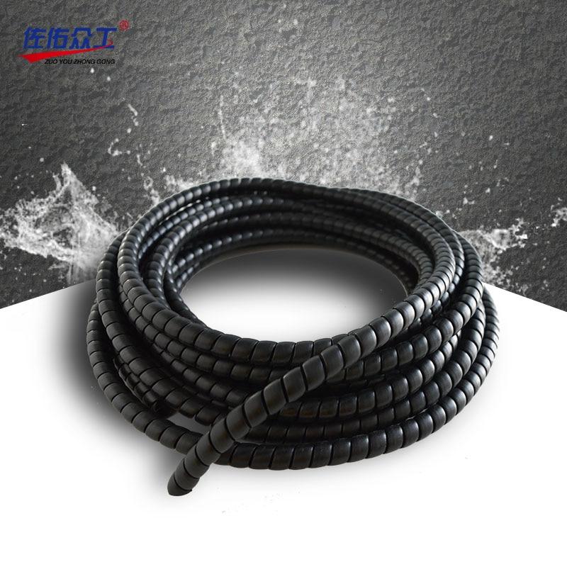 8 28 мм модель спиральная Защитная крышка 2 м защита кабеля Мотоцикла Провода жгут отделка масла и прочный кабель рукав|Кабельные рукава|   | АлиЭкспресс