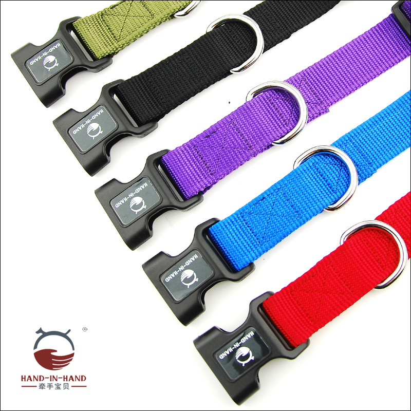 Hand-in-hand Pet Supplies Pet Collar Large Dog Collar Dog Supplies Nylon Release Buckle Neck Band