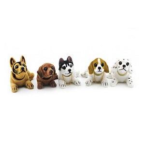 Image 3 - Husky Beagle muñeco de decoración para el Interior del coche, adorno de sobremesa