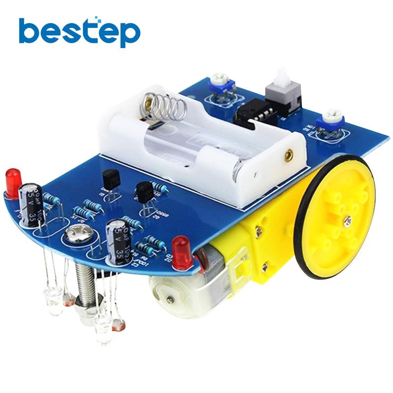 D2-1 Smart Robot Car Kits Tracking Car Photosensitive Robot Kits Parts For DIY Electric Toy No Battery