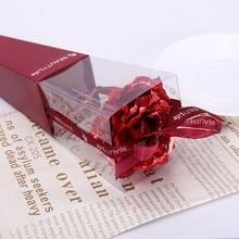 Свадебные украшения, Золотая Роза, романтическая позолота 24 К, позолота, роза, имитация, цветок розы, подарок на день Святого Валентина zh1