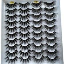 Novo 5/20 pares 15-20mm natural 3d cílios postiços falsos maquiagem kit vison cílios extensão vison cílios atacado