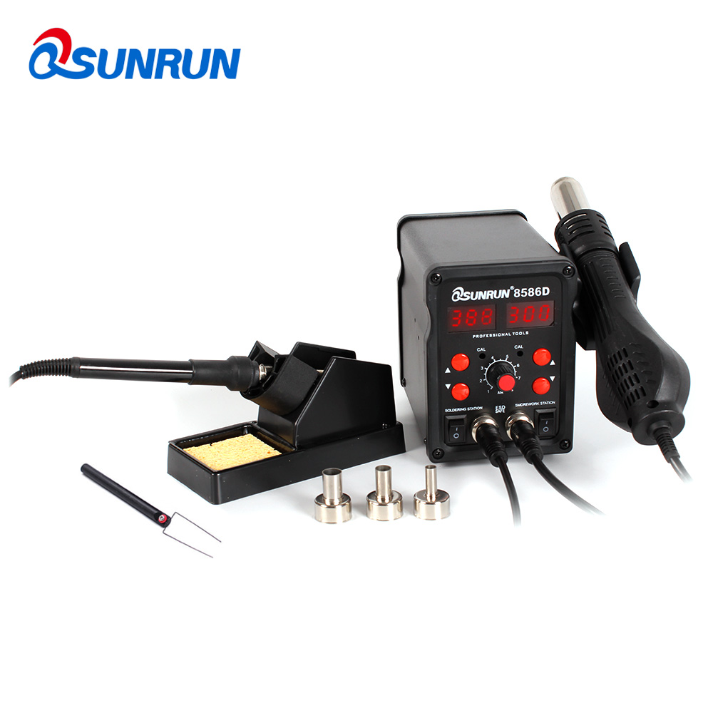 8586D Hot Air Gun Soldering Station Two-in-One Electric Soldering Iron Constant Temperature Adjustable Hot Air Dual Digital Disp