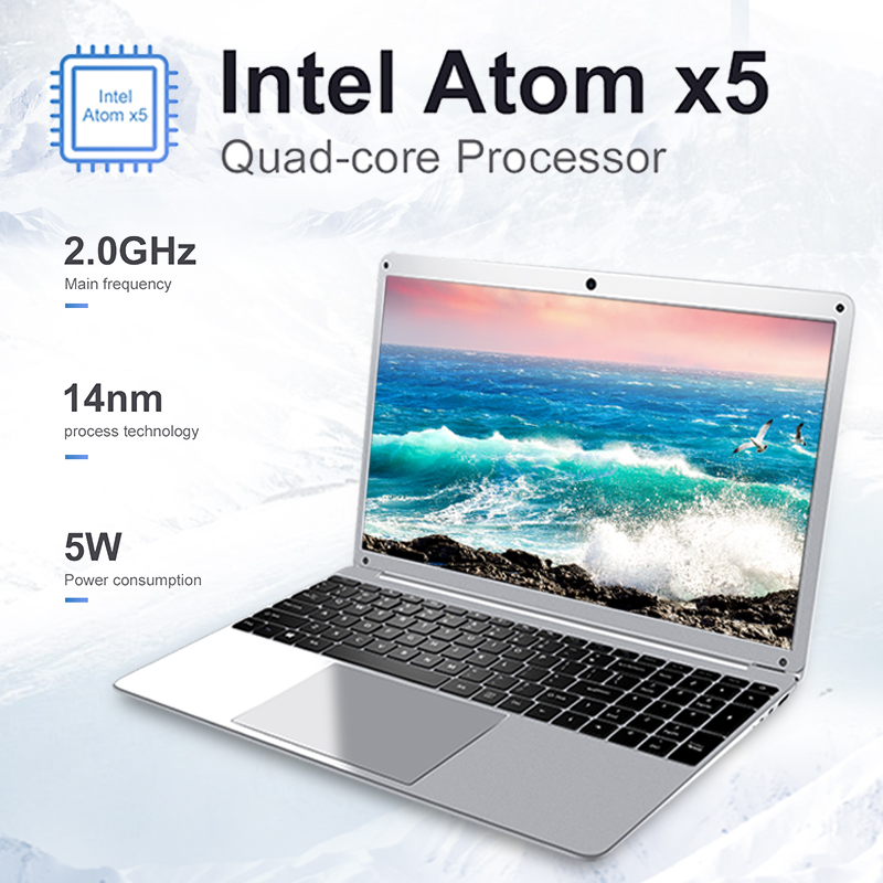 Student Laptop 15.6 14.1 Inch Intel Quad Core 4GB RAM Netbook 1080P Windows 10 Notebook with WiFi Bluetooth Webcam