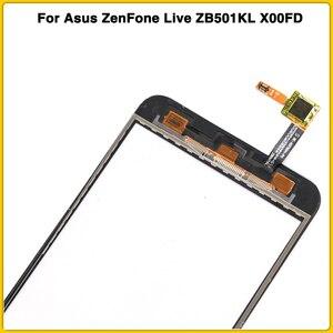 "Image 5 - חדש מסך מגע עבור Asus ZenFone לחיות ZB501KL X00FD A007 5.0 ""מגע מסך פנל Digitizer חיישן חיצוני זכוכית עדשה"