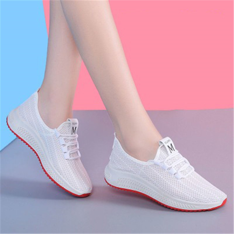 2020 Summer New Breathable Ladies Casual Shoes Light And Comfortable Sports Shoes Women Net Shoes Korean Student Shoes