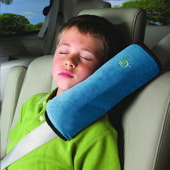 Hot! 1PC Soft Baby Pillow Kid Car Pillows Safety Seat Belt Shoulder Cushion Pad Support Pillow For Kids Toddler image