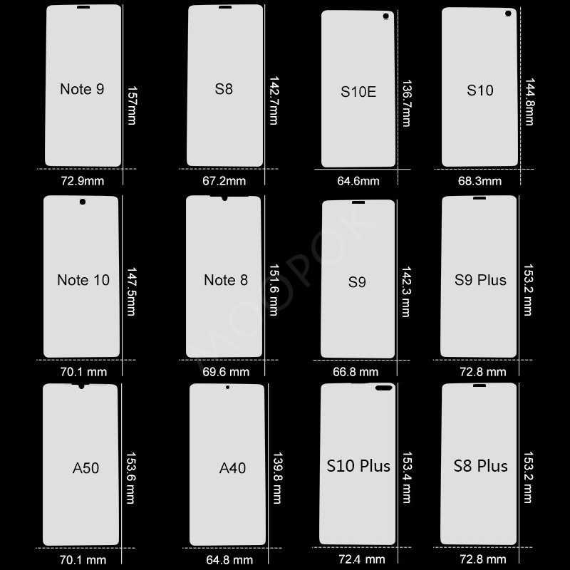 2 個 100D 三星銀河 S10 S9 S8 プラス A50 フルカバーソフトサムスン注 10 8 9 A40 映画ではないガラス