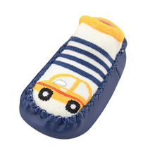 Cartoon Newborn Baby Girl Boy first walkers toddler slip-on baby Socks shoes cute Anti-Slip first step shoes zapatos bebe A40 cheap ROMIRUS Cotton Fabric Patch Spring Autumn Cartoon Animation Unisex Rubber Fits true to size take your normal size chausson