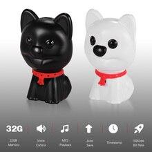 מקורי דיגיטלי קול מקליט מיני חמוד רכב שחור תיבת ילדי בטיחות mp3 מיני גודל כלב עיצוב אחד מפתח הקלטה mp3 נגן