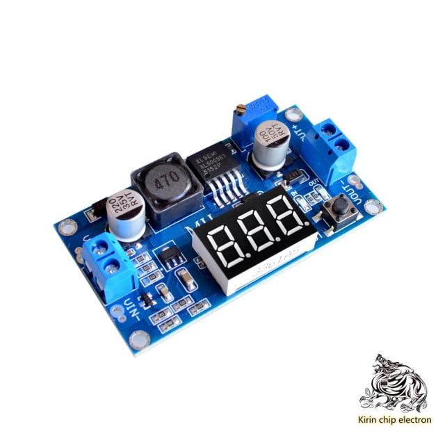 2pcs / Lot Xl6009 Adjustable Boost Module Far Exceeds Lm2577 4.5-32l 5-35 With Digital Voltmeter Display