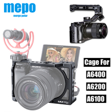 Vlog Metal Camera Cage for Sony Alpha A6400 A6300 A6100 Hand