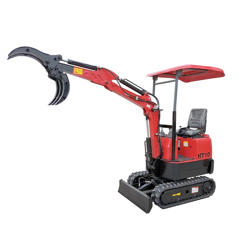 OEM Garden Farm Micro Digger 1 Ton Mini Excavator Small Bagger With Canopy And Bucket