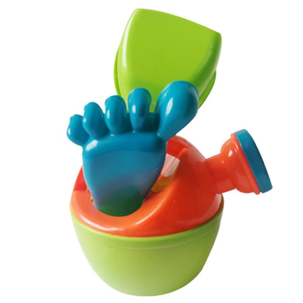 3Pcs/Set  Foot Bucket Spade Sets Beach Toys Sand Toy For Kids Children Educational Montessori Summer Play Set Game