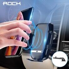 ROCK 15W 중력 센서 Qi 빠른 무선 자동차 전화 충전기 아이폰에 대 한 삼성 자동차 전화 홀더 Xiaomi 화 웨이 빠른 충전