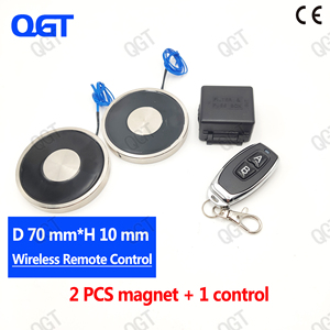 KK-70/9 Double DC The wireless remote control electro magnet Electromagnet cylinder magnets custom electric magnet suck(China)