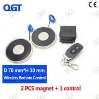 KK-70/9 doble DC el control remoto inalámbrico electro imán electroimán cilindro imanes personalizados imán eléctrico