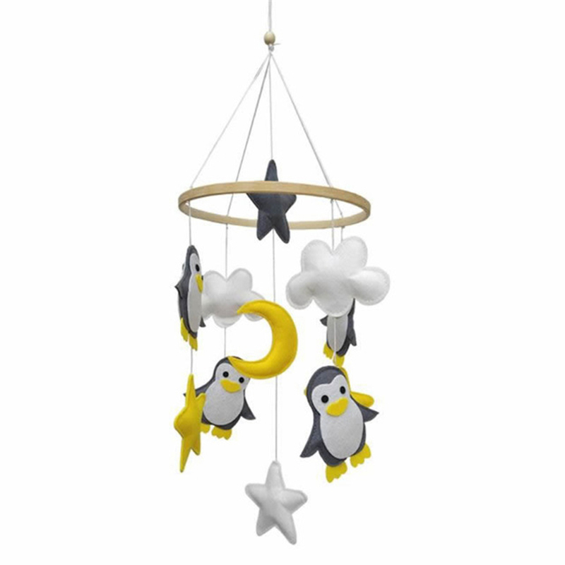 Baby Crib Mobile Rattles Baby Toys 0-12 Months Newborn Bed Bell Toy Bird Owl Toddler Handmade Finished Mobile Toys For Children