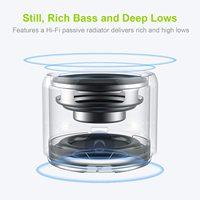 EWA A106 Pro Mini Bluetooth Speaker with Custom Bass Radiator, IPX7 Waterproof, Super Mini Speaker, Travel Case Packed 2