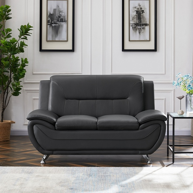 New Arrival Black Living Room Sofa Eucalyptus Fine Linen High Quality Sofa Home Decoration Space Saving Comfortable Soft Sofa 1