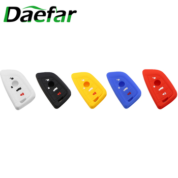 Daefar Silicone Car Key Case For BMW 1 2 5 Series 218i X1 F48 X5 X6 F15 Fabia Octavia Remote Fob Shell Cover image