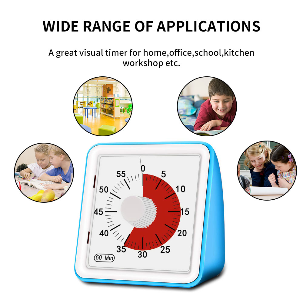 Image 3 - 60 Minutes Kitchen Timer Visual Cooking Count Up Countdown Alarm Sleep Stopwatch Time Management Tool For Kids And AdultKitchen Timers   -