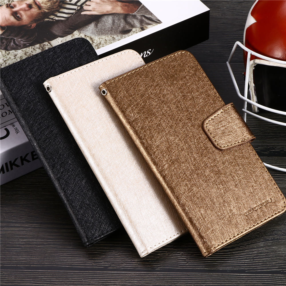 GUCOON Silk Pattern Case for teXet TM-5083 TM-5084 Pay 5 3G 4G PU Leather Book Flip Phone Cover Wallet Bag Purse image