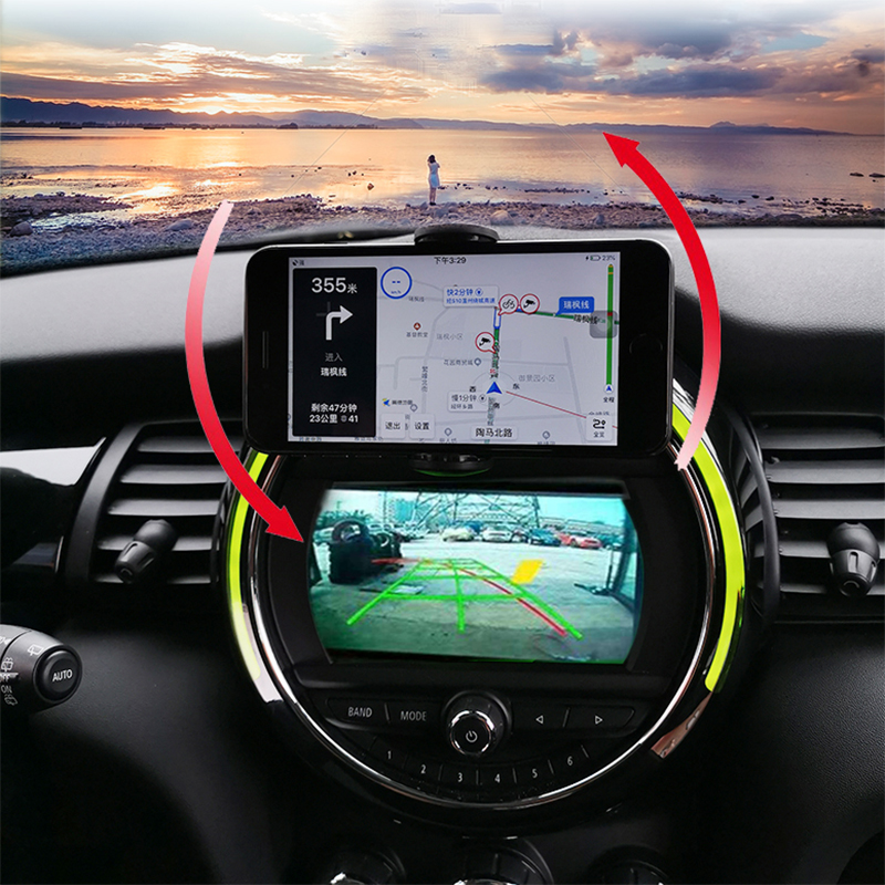 L Infrared Sensor Automatic Qi Fast Wireless Car Phone Charger for Mini Cooper S JCW One F54 F55 F56 F60 3