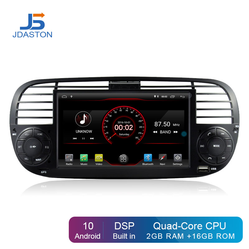 JDASTON Android 10,0 автомобильный DVD плеер для FIAT 500 мультимедийный GPS навигатор 1 Din автомагнитола Autoaudio WIFI Buit in DPS|Мультимедиаплеер для авто|   | АлиЭкспресс