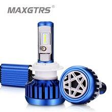 MAXGTRS H1 H4 H7 H8 H11 9005 HB3 9004 H27 880 881 светодиодный автомобильный Головной фонарь, лампы 80 Вт CSP светодиодный передний фонарь