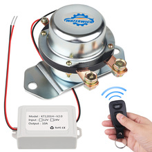 Wireless Remote Control 12V 24V Isolator Battery Disconnect Car Auto Battery Switch Solenoid Electromagnetic With Gloves