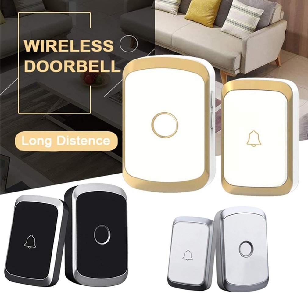Wireless Doorbell Waterproof Home-Security Remote EU 300M UK AU Us-Plug title=