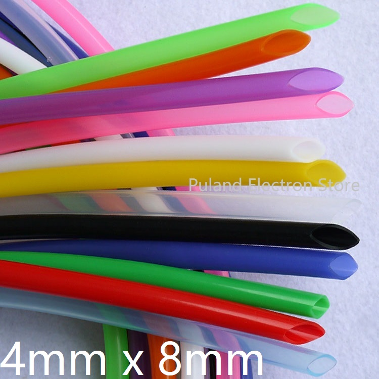 Silicone Tube ID 4mm X 8mm OD Flexible Rubber Hose Thickness 2mm Food Grade Soft Milk Beer Drink Pipe Water Connector Colorful