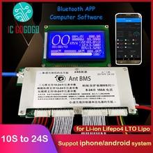 สมาร์ท Ant BMS 450A 300A 200A 100A 70A แบตเตอรี่ลิเธียมแบตเตอรี่บลูทูธ Li Ion Lifepo4 LTO 10S 24S 60V 72V 20S
