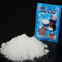 1 Pack Artificial Snow Instant Powder Fluffy Snowflake Super Absorbant Frozen Party Magic Prop Christmas Decor E