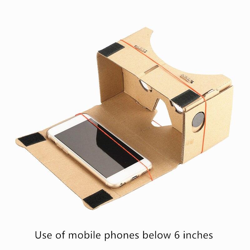1 pc papel 3d vr óculos de realidade virtual diy inteligente ar óculos papelão portátil fone de ouvido estilo para 3.5 - 6.0 polegada smartphone