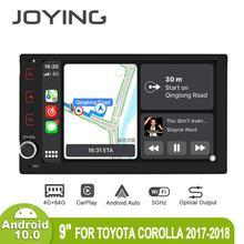 Автомобильный мультимедийный плеер, Магнитола 9 дюймов на Android 10, с GPS, SPDIF, Carplay, DSP, SPDIF, 5GWiFi, для Toyota Corolla/Tacoma/Auris/Fortuner 2017 2019
