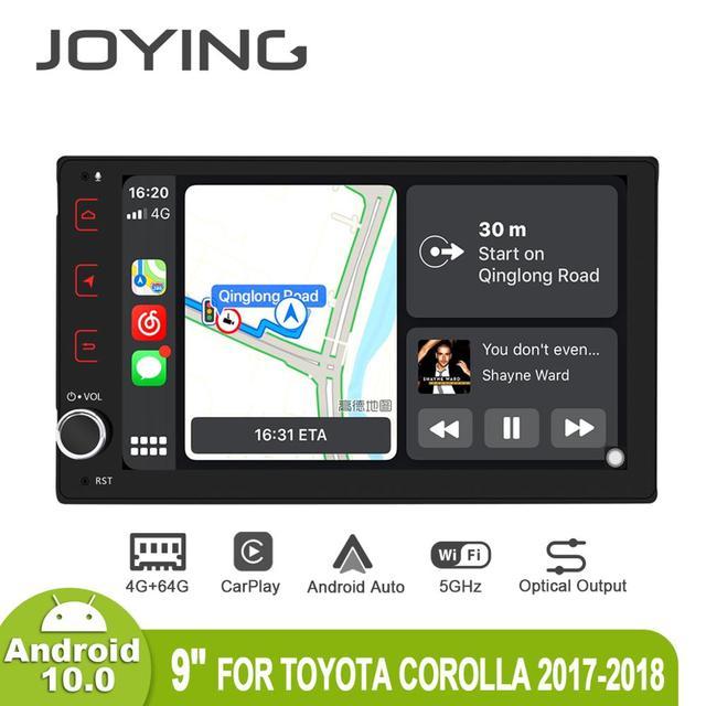 "9 ""Android10 Radio Đa Phương Tiện Cho Xe Toyota Corolla/Tacoma/Auris/Fortuner 2017 2019 GPS SPDIF Carplay DSP SPDIF 5GWiFi"