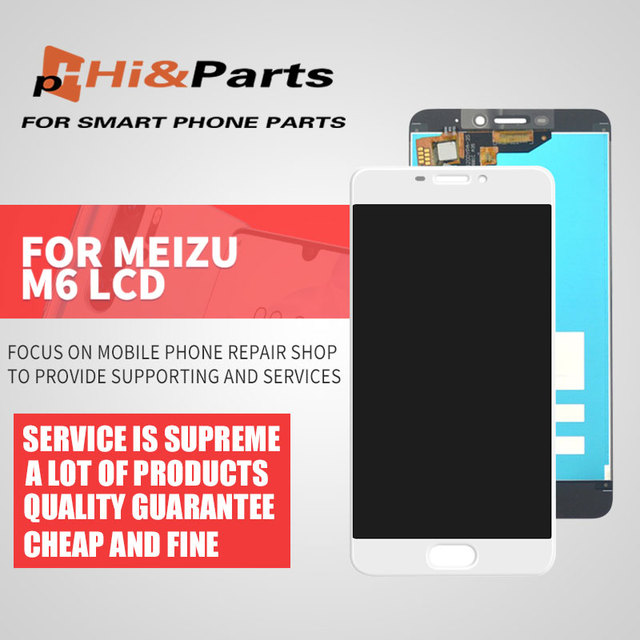 Black Color : Black LCD Screen Mobile Phone and Digitizer Full Assembly with Frame for Meizu M6T M811Q