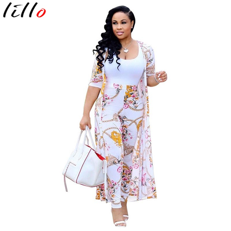 Supermodel Sexy Digital Printing Cloak Casual Two-piece Suit Pants - Coat Fashion Print Urban Casual Wear  High Quality Set
