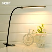 Flexible LED Table Lamp Clip Office Desk Lamp With Clamp Study Lamp For Bedroom Living Room Led Light 2 Level  Brightness&Color