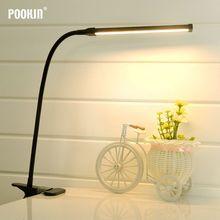 Lâmpada de mesa led flexível clipe lâmpada de mesa de escritório com braçadeira lâmpada de estudo para o quarto sala de estar led luz 2 nível brilho & cor