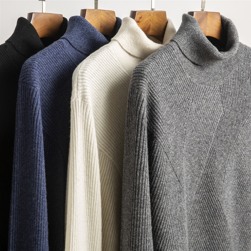 Men's Sweaters Men Basic Pullover Slim Fit Long Sleeve Knitwear Winter Pull Homme 2020 New Turtleneck 3518