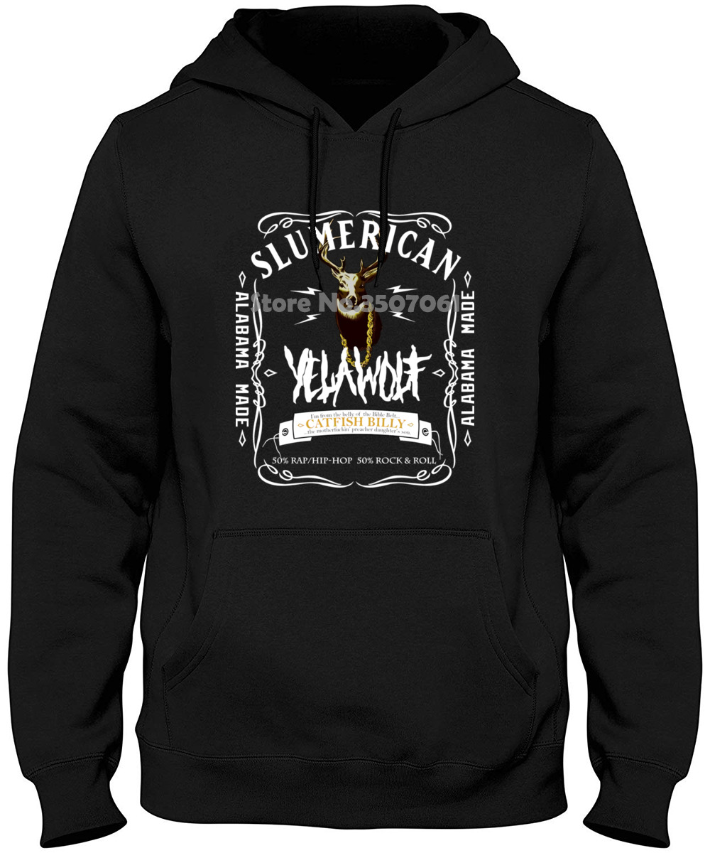 Men Yelawolf Logo Black Short Sleeve Long Sleeve Funny Novelty Women Black Casual Men Brand Hoodies & Sweatshirts